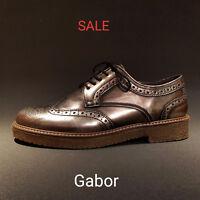 Gabor shoes Damen Schnürschuh Schuhe Sneaker metallic bronce NEU REDUZIERT