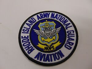 MILITARY PATCH SEW ON RHODE ISLAND ARMY NATIONAL GUARD AVIATION HOPE
