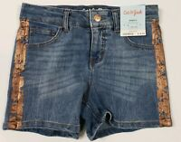 Cat & Jack Girl's Shorts Denim Sizes 4/5 to 14/16 Blue Snap Front