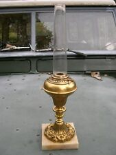 RARE CARLTON BOSTON SMALL BRASS SOLAR ARGAND LARD OIL LAMP WORKING WITH CHIMNEY