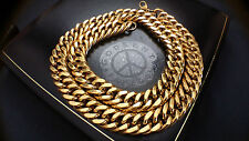 Mens Heavy Gold Filled Chunky Huge Link Stainless steel14 mm   Chain Necklace