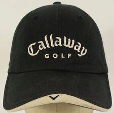 Callaway Golf Black Baseball Hat Cap Adjustable Strap