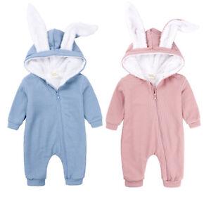 UK Infant Baby Boy Little Kids Romper Jumpsuit Bodysuit Winter Clothes Outfit UK