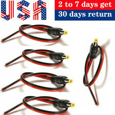 5pcs 5.5*2.1mm Male Dc Power Plug Connector Cctv Psu Pigtail Cable Jack 12V