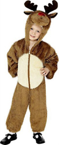 Reindeer Costume, Brown, with Hooded Jumpsuit -  (Size: (UK IMPORT) COST-UNI NEW