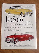 1950 DeSoto Sportsman & Custom Convertible Ad