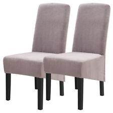 Universal Long Back Velvet Dining Chair Covers Wedding Banquet Slipcovers '
