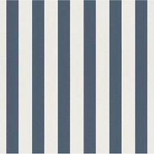 DARK BLUE WHITE STRIPE CHILDRENS KIDS BOYS GIRLS NURSERY WALLPAPER RASCH 246049