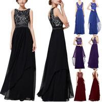 Women Fashion Long Chiffon Evening Formal Party Ball Gown Prom Bridesmaid Dress