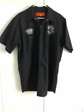 MEN'S SHORT SLEEVE MOTORCYCLE SHIRT, GROVE CYCLES, RIDE FAST LIVE HARD, XL
