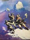 FRANK FRAZETTA Snow Giants FANTASY Litho PRINT 16 X 20 Vintage Prints #17 Conan