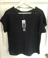 Cable & Gauge Black Semi Sheer Knit Sweater Size L Macy's NWT