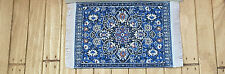 Dolls House Miniatures 1/12th Blue D697E Blue Turkish Rug 7 x 5 cms New