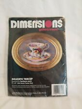 Vintage 1994 Dimensions Cross Stitch Kit #6192 Delicate Teacup 7x5 Barbara Mock