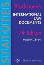 International Law Documents (Blackstone's Statutes)