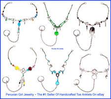 10 Toe Ring Anklets Peruvian Wholesale Jewelry Lot Peru