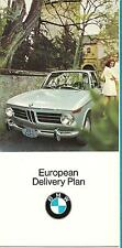 BMW   European Delivery Package For 2500 And 2800 Sedans  8 Pieces  1970
