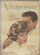 """""""VITAPOINTE"""" Plaque celluloïde originale années 50  24x33cm"""