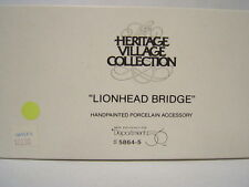 "Dept 56 Heritage Village Collection - ""Lionhead Bridge"" #5864-5 Vgc in box"