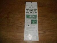 JUNE 1953 READING COMPANY PHILADELPHIA MUSIC FESTIVAL EXCURSION TRAIN BROADSIDE