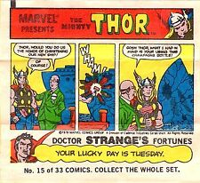 TOPPS 1979 BUBBLE GUM COMIC 15 MARVEL PROMO GIVEAWAY MINI THE MIGHTY THOR