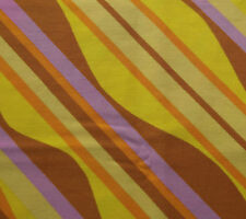 """Vintage 1950s cotton fabric CYRIL LORD bright wavy stripes 2 pieces each 35""""x21"""""""