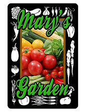 Personalized Garden Sign Printed with YOUR NAME DURABLE ALL WEATHER ALUMINUM