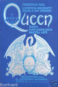 "QUEEN - 'Mountford Hall, Liverpool University' Concert Poster 30""x20"" - reprint"