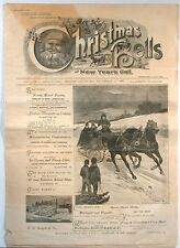 1888 Christmas Bells & New Year's Call Original Newspaper No. 1 Mauch Chunk PA