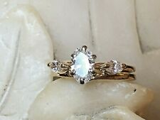 VINTAGE 14K GOLD DIAMOND RING & BAND SOLITAIRE  APPRAISAL ENGAGEMENT 2/3 CARAT