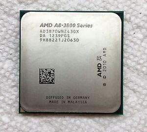 AMD A8-Series A8-3870K 3 GHz Quad-Core CPU Processor AD3870WNZ43GX Socket FM1