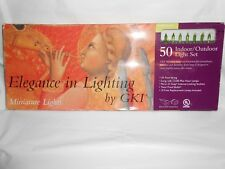 NEW GKI/Bethlehem Lighting 50 CHARTREUSE Perm-O-Snap Mini Lights