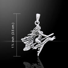 Salem Sexy Witch .925 Sterling Silver Pendant by Peter Stone