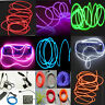 1/3/5M Led Flexible EL Wire Neon Glow Light + 3V/12V/USB Controller Party Decor