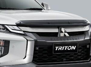New L200 GLOSS BLACK BUG GUARD Insect hood SHIELD FIT Mitsubishi Triton 2020