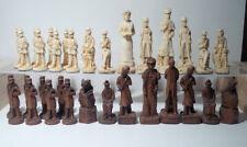 Sherlock Holmes Chess Pieces Bisque - No Board - #202