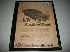 """1949 FORD MONARCH ORIGINAL VINTAGE PRINT AD  """"IT'S NEW- THROUGH and THROUGH"""""""