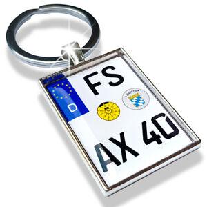 Schlüsselanhänger Motorrad Kennzeichen Nummernschild Wunsch Individuell Geschenk