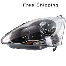 Halogen Head Lamp Lens and Housing LH Side Fits Honda Civic Hatchback HO2502122