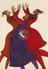 """Praisin"" Limited Edition 200 Expressive Art By Charles Bibbs"