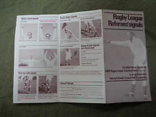 #D286.  PANTENE HAIR CARE  RUGBY LEAGUE REFEREES'   SIGNALS FOLDOUT
