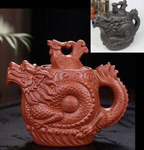 Chinese Ceramic Teapot 530ml Authentic Dragon Kung Fu Tea Pot Kettle Purple Clay