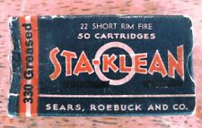 Vintage Sears Roebuck Sta-Klean .22 Caliber Box - Free Shipping