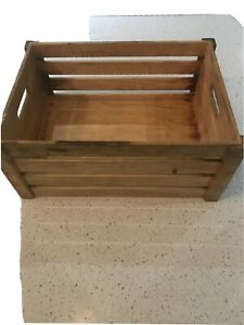 Wooden Slated Box with handles