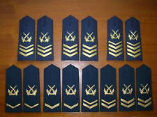 07's series China PLA Navy NCO and Chief Petty Officer Shoulder Boards,7 Pair