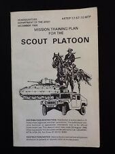 Mission Training Plan for the Scout Platoon, Dec 1988, by HQ Dept of the Army