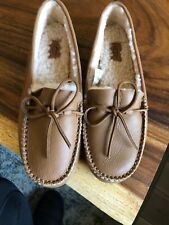 $150 UGG AUSTRALIA Women's Deluxe Leather Loafer  Tan Size 7 ❤️❤️