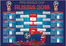 Russia 2018 World Cup Poster Wall Chart -A1,A2 Printed on PVC No tear Waterproof