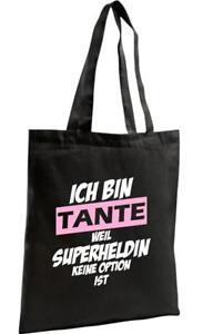 Shopping Bag Organic Zen, Shopper Ich bin Tante weil Superheldin keine Option is