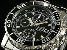 SEIKO SNA225P1 Alarm Chronograph Diver's Black Dial Men's Watch From Japan